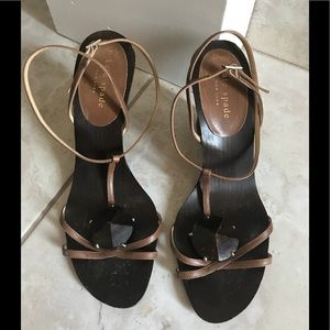 Kate Spade wood wedge sandals